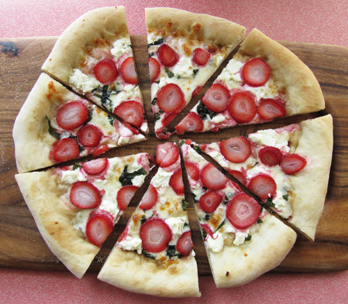 Strawberry Basil Goat Cheese Pizza