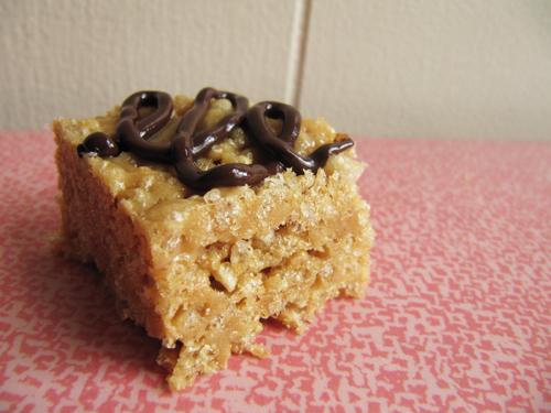 Single Lady Malted PB Rice Krispie Treat // Take a Megabite