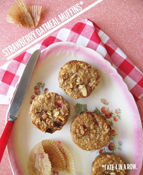 Strawberry Oatmeal Muffins are my BFF