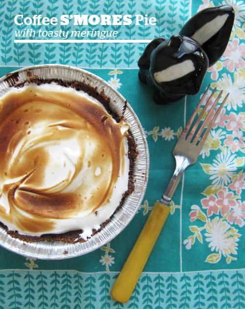 """Coffee """"S'mores"""" Pie Recipe — Dishmaps"""