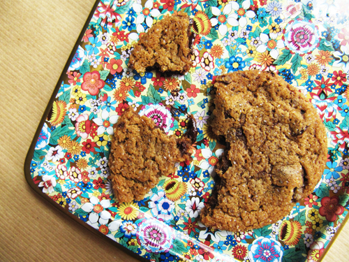 Broken Chewy Ginger Chocolate Chunk Cookie // take a megabite