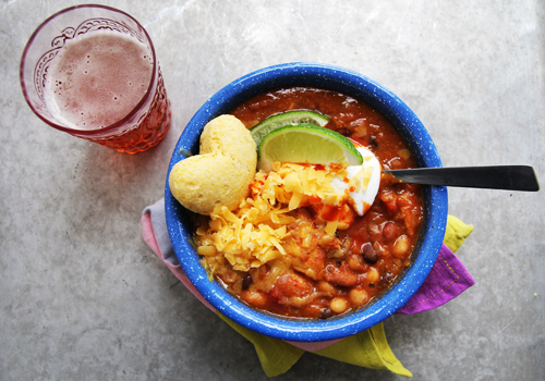 Chipotle Chicken Chili (An Edible High-Five)