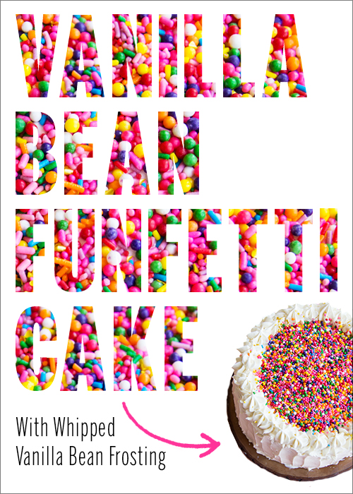 Easy homemade funfetti cake with vanilla buttercream - Cook and Post