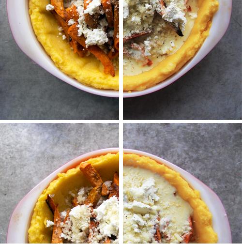 Sweet Potato Feta Quiche with a Polenta Crust (makes one 9-inch quiche ...